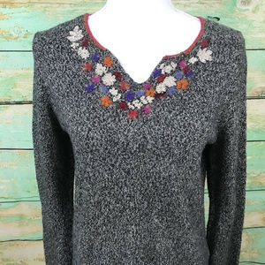 Sigrid Olsen Sport Womens Sweater Sz L Floral